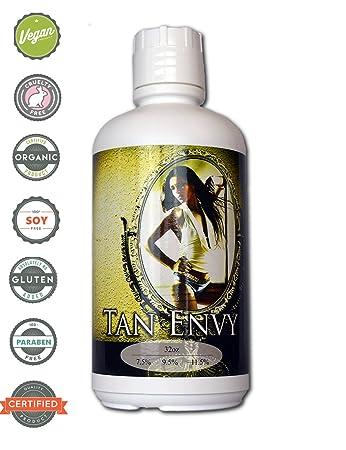 Tan Envy European Blend 9.5 Med Sunless Spray Tanning Solution Gallon ships in 4 qts