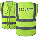 9d23c987ef0 JKSafety 9 Pockets Class 2 High Visibility Zipper Front Safety Vest With  Reflective Strips