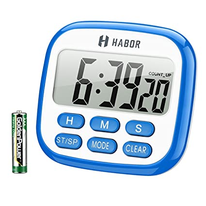 Habor Digital Kitchen Timer, Cooking Timer, Large Display, Strong Magnet  Back, Loud