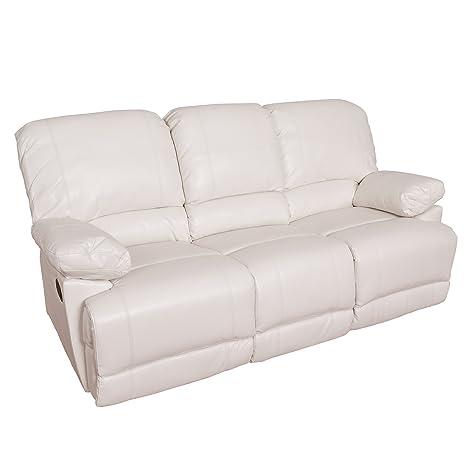 Amazon.com: corliving lzy-311-s Lea piel sofá reclinable ...