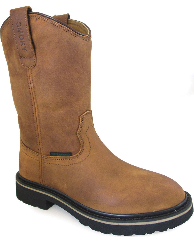 Smoky Mountain Boys' Scottsdale Work Boot Round Toe Brown 4 D