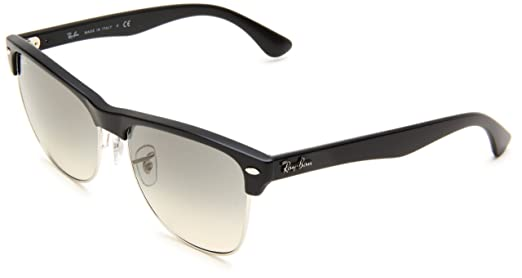 c7791962b6 Ray-Ban CLUBMASTER OVERSIZED - DEMI SHINY BLACK SILVER Frame CRYSTAL ...