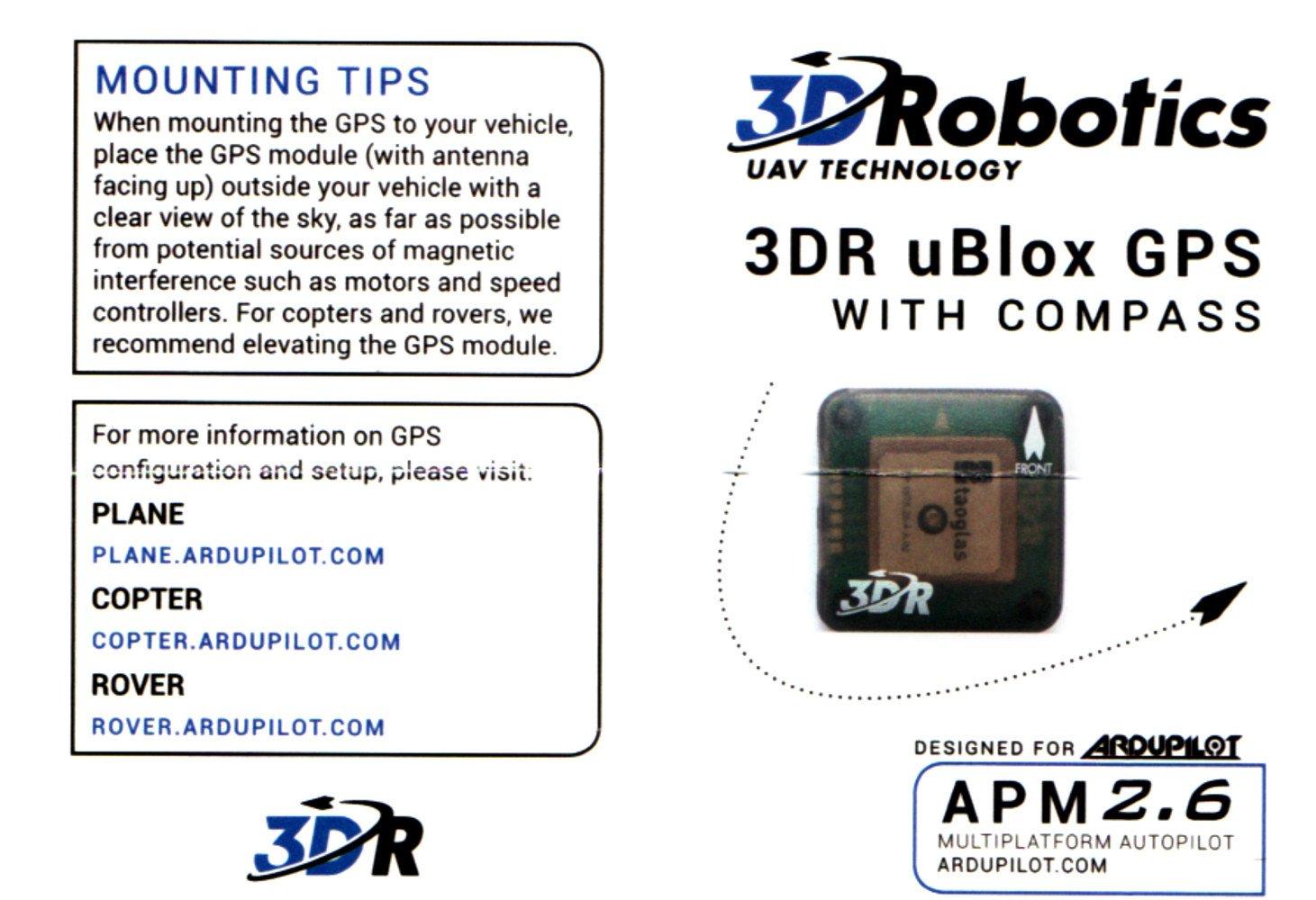 Amazon com: 3D Robotics APM 2 6 with GPS/Compass and Power