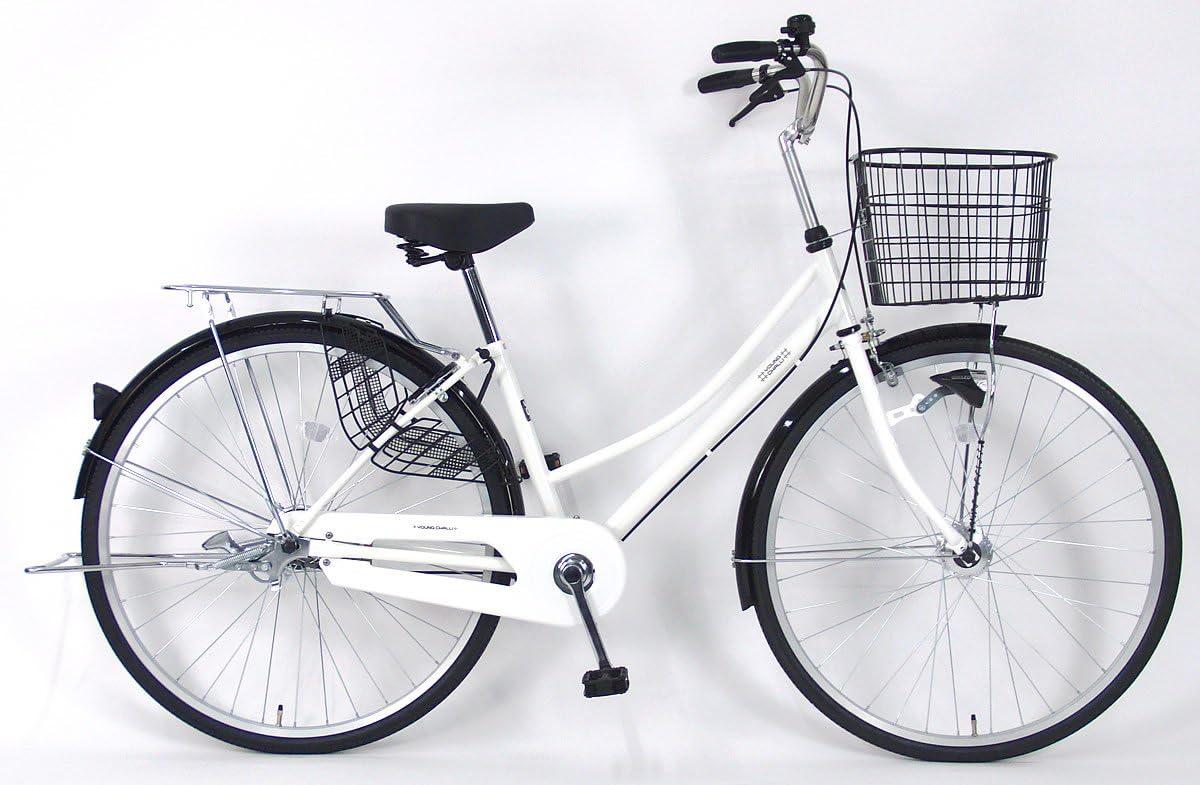 C.Dream(シードリーム) テクノタウンオートライト TW73-H 27インチ自転車 シティサイクル ホワイト 3段変速 100%組立済み発送