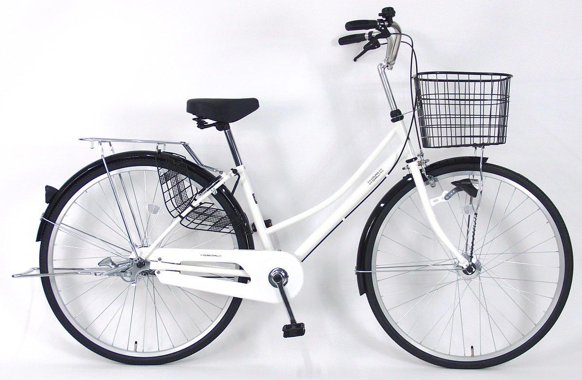 C.Dream(シードリーム) テクノタウンオートライト TW71-H 27インチ自転車 シティサイクル ホワイト 100%組立済み発送 B078TY1L11