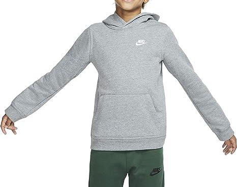 Sermón filtrar En otras palabras  Nike Club Sportswear - Sudadera con capucha para niño Carbon/blanco. L:  Amazon.es: Ropa y accesorios