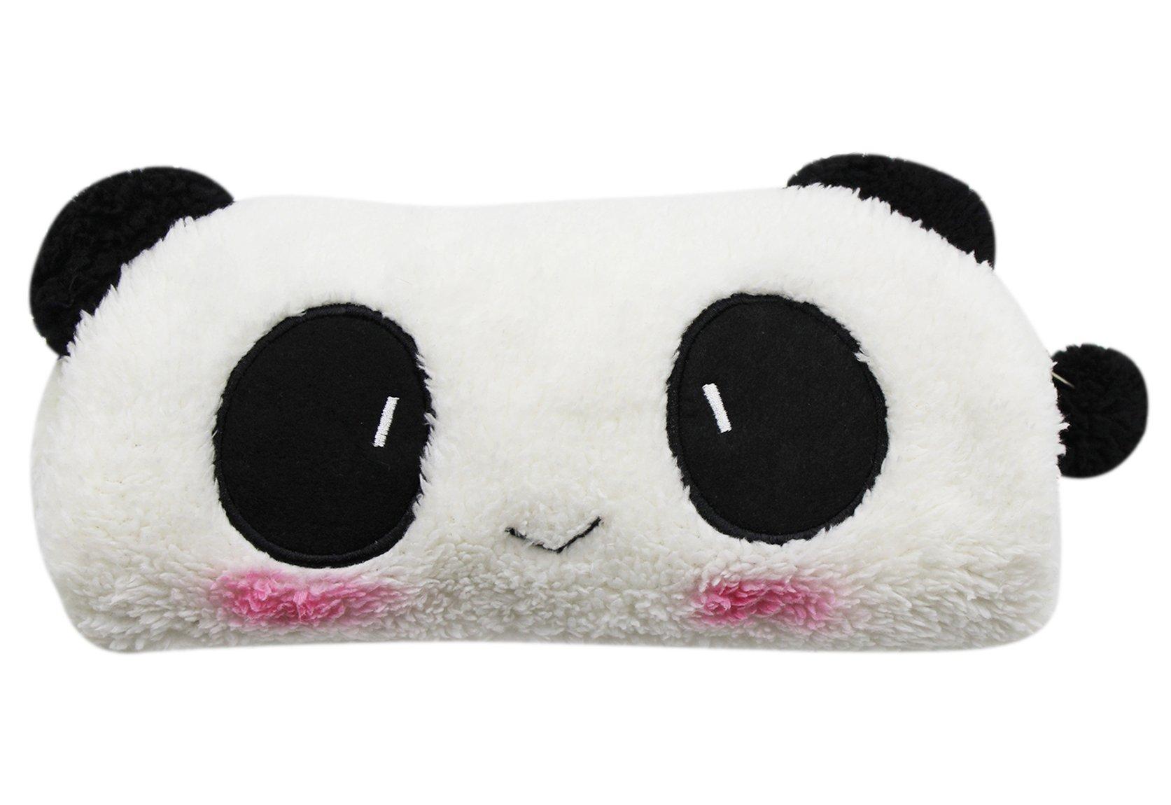 CC-US 3D Soft Plush Panda Pencil Holder Case Multi-Functional Pen Box Travel Makeup Bag Coin Purse