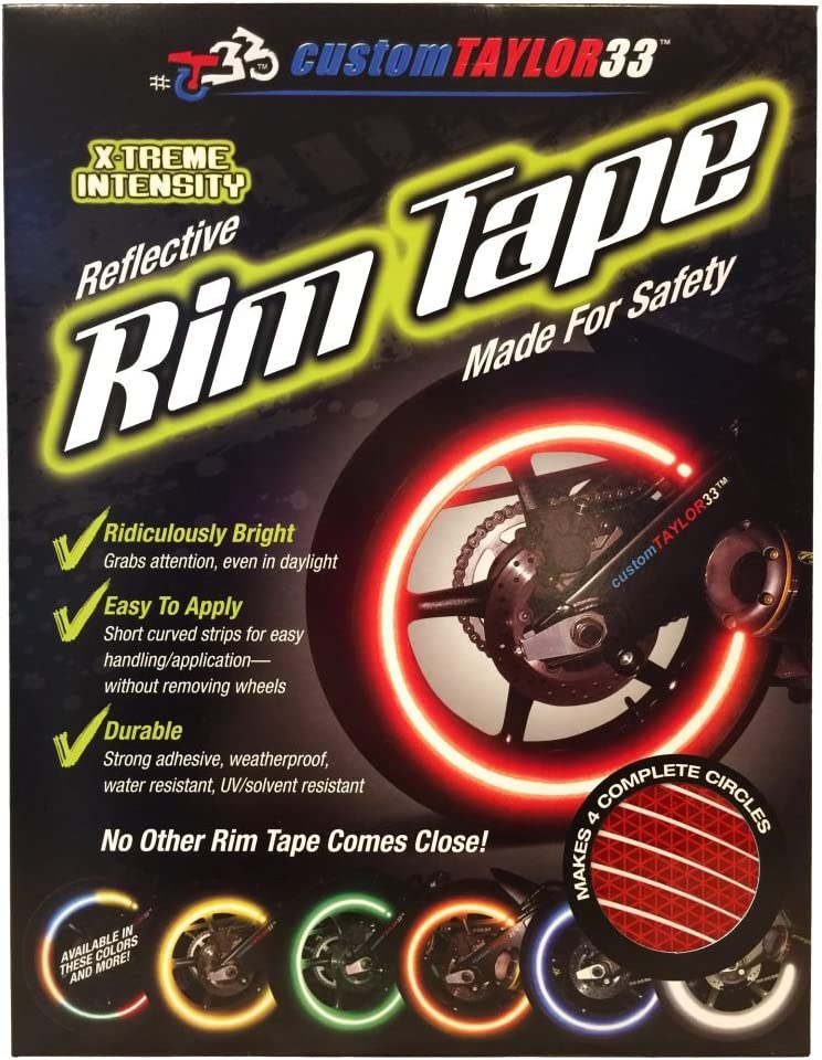 Red High Intensity Grade Reflective Copyrighted Safety Rim Tapes Must select your rim size customTAYLOR33 All Vehicles Rim Size 24