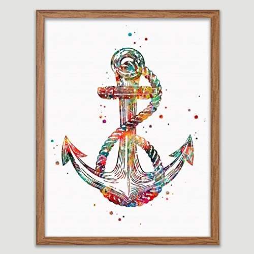 Amazon.com Anchor Watercolor Poster Nautical Art Prints Sea