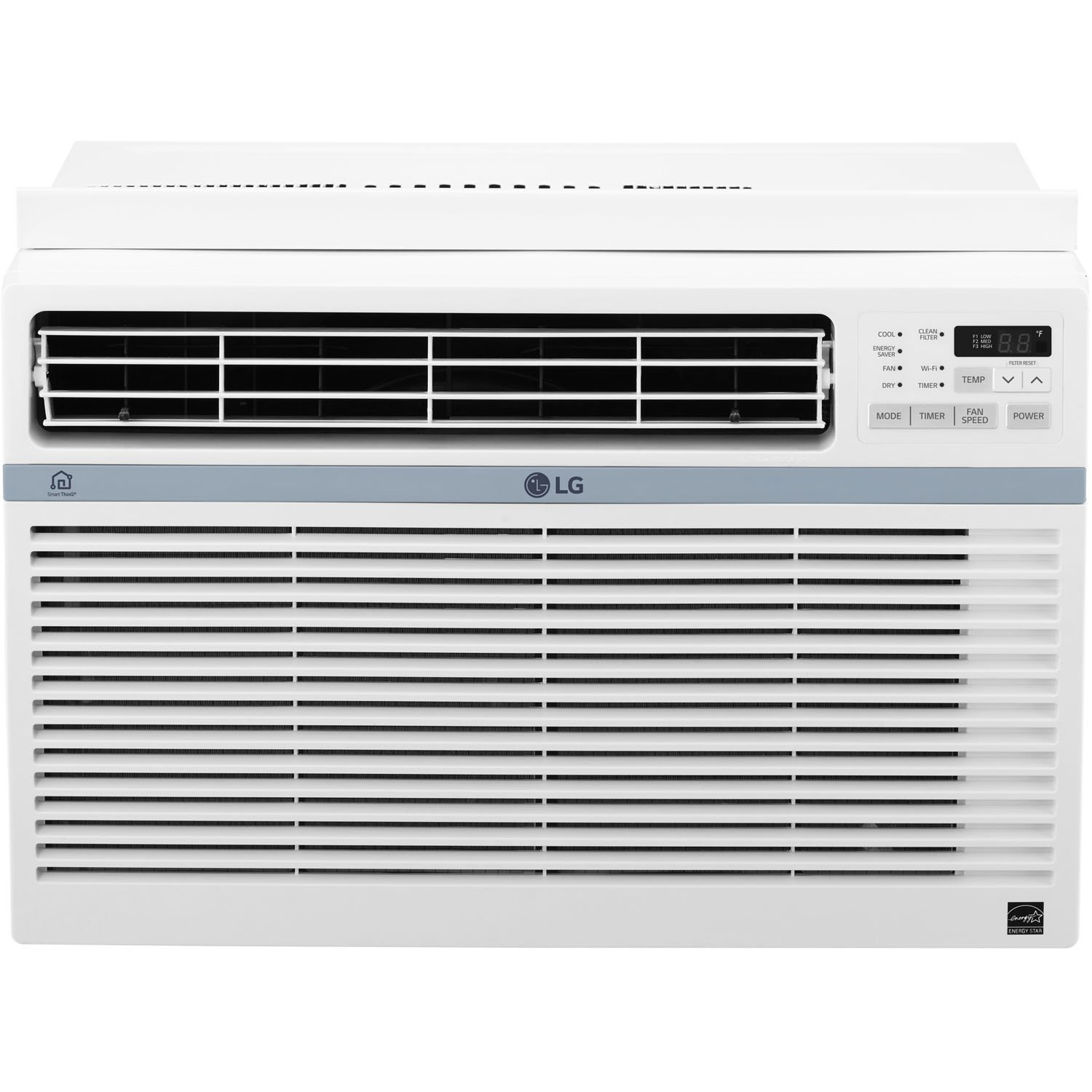 LG Energy Star Window Air Conditioner, 8,000 BTU, White