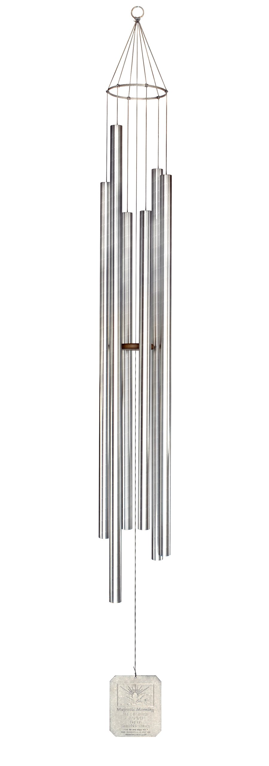 Grace Note Chimes MMX 108-Inch Majestic Morning Wind Chimes, X-Large, Silver