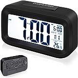 Arespark Despertador Digital, Reloj Alarma Electrónico con Luz de Noche, Pantalla LCD de 5.3 Pulgadas con Hora, Fecha…