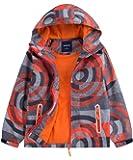 M2C Boys Hooded Full-Zip Windproof Fleece Lined Active Jacket
