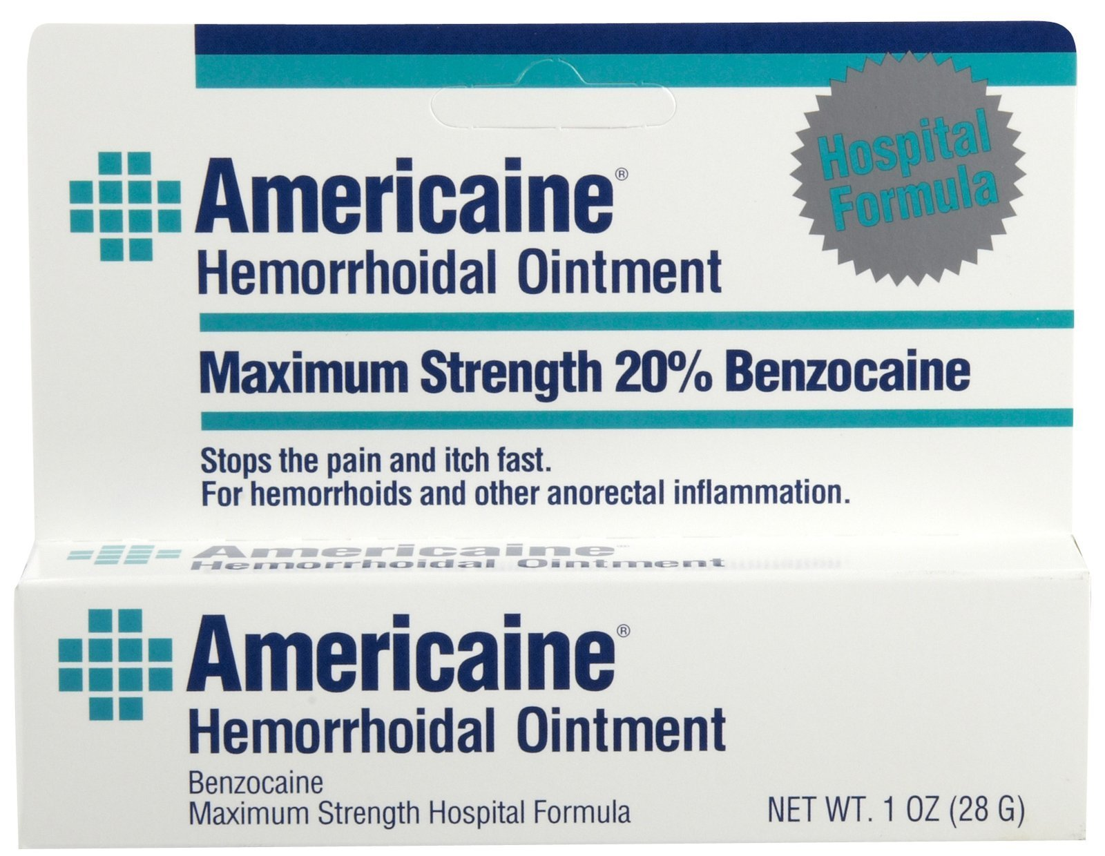Americaine Hemorrhoidal Ointment Maximum Strength 20% Benzocaine 1 oz