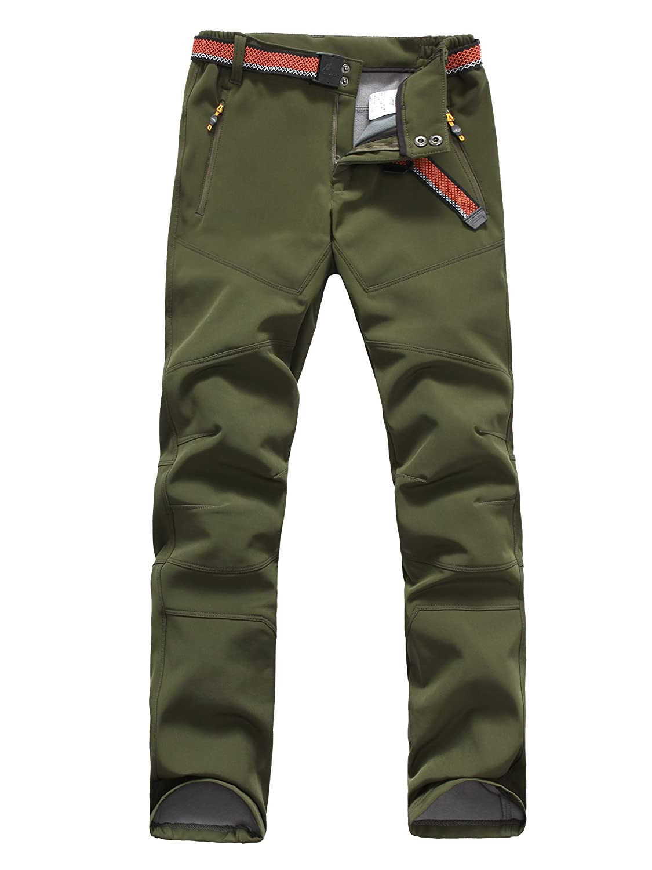 HAINES Pantaloni Trekking Donna Invernali Pantaloni Softshell da Montagna Pantaloni Escursionismo Impermeabili
