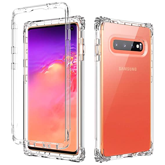 SKYLMW Samsung Galaxy S10 Case,Dual Layer Shockproof Protection Hard  Plastic & Soft TPU Sturdy Armor High Impact Resistant Cover for Samsung  Galaxy