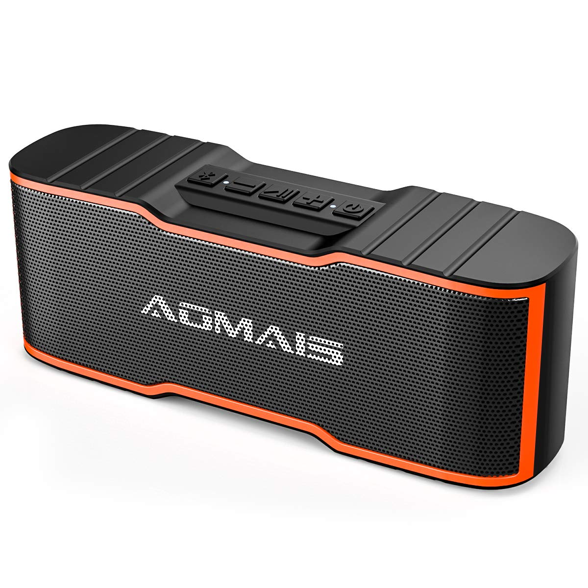 AOMAIS Sport II Mini Portable Bluetooth Speakers with 10W Superior Sound, Built-in Mic, Stereo Pairing, IPX4 Water-Resistant Wireless Speaker for Shower, Pool, Outdoors, Travel, Beach (Orange) AS-F2-MINI-Orange