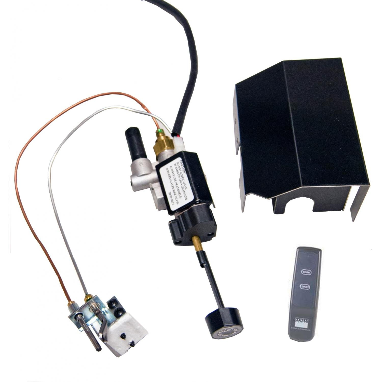 Peterson Real Fyre Low Profile Propane Gas Automatic Pilot Kit With Basic Variable Flame Height Remote by Peterson Real Fyre