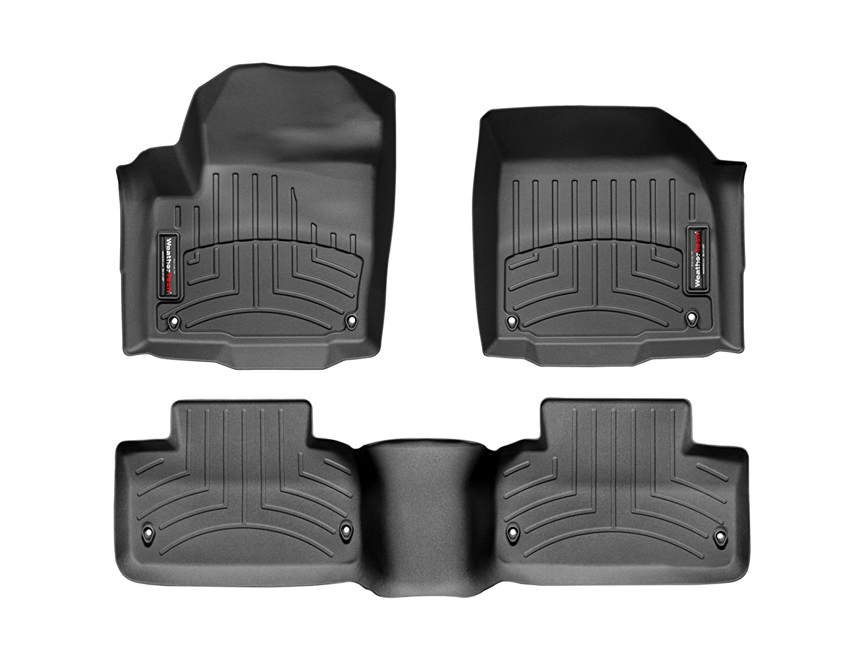 WeatherTech Custom Fit FloorLiner for Land Rover/Range Rover Range Rover Evoque -1st & 2nd Row (Black)