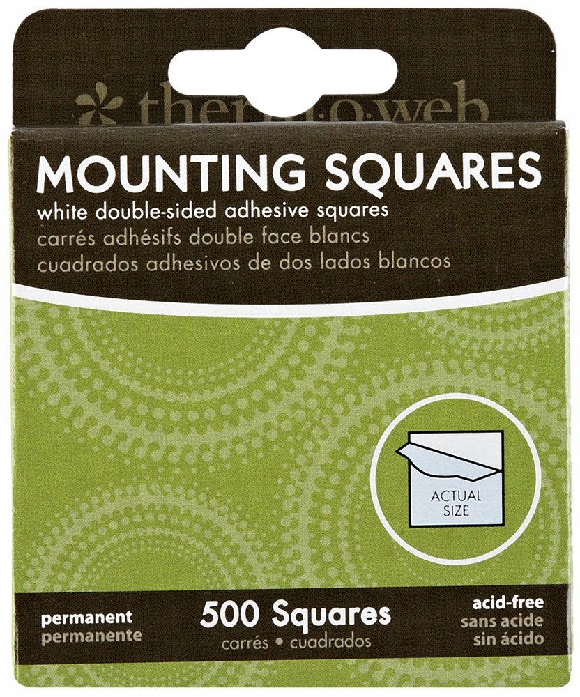 Thermoweb Mounting Squares 500-Pack, White, 1/2-Inch 3871