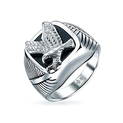 Bling Jewelry Mens Stainless Steel Secret Society Ring Rhodium Plated FVbOsaY