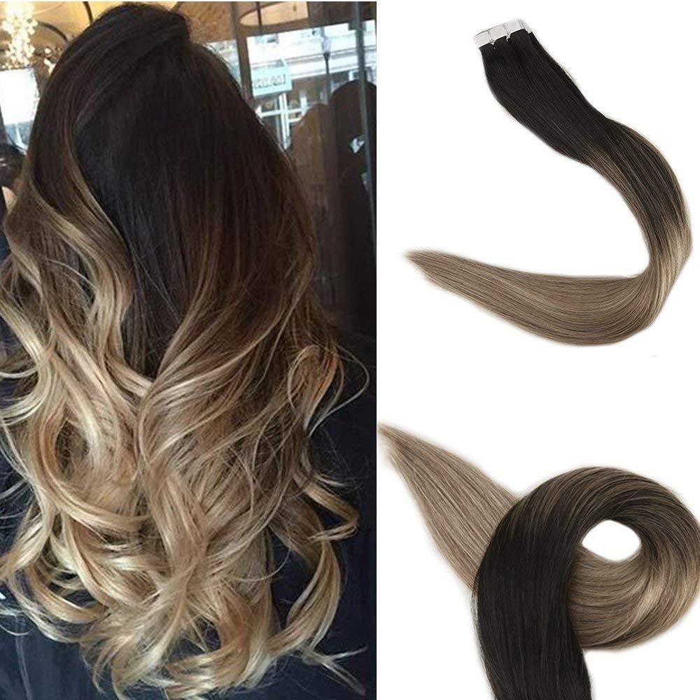 Amazon Full Shine 20 Inch Glue Hair Extensions Human Hair