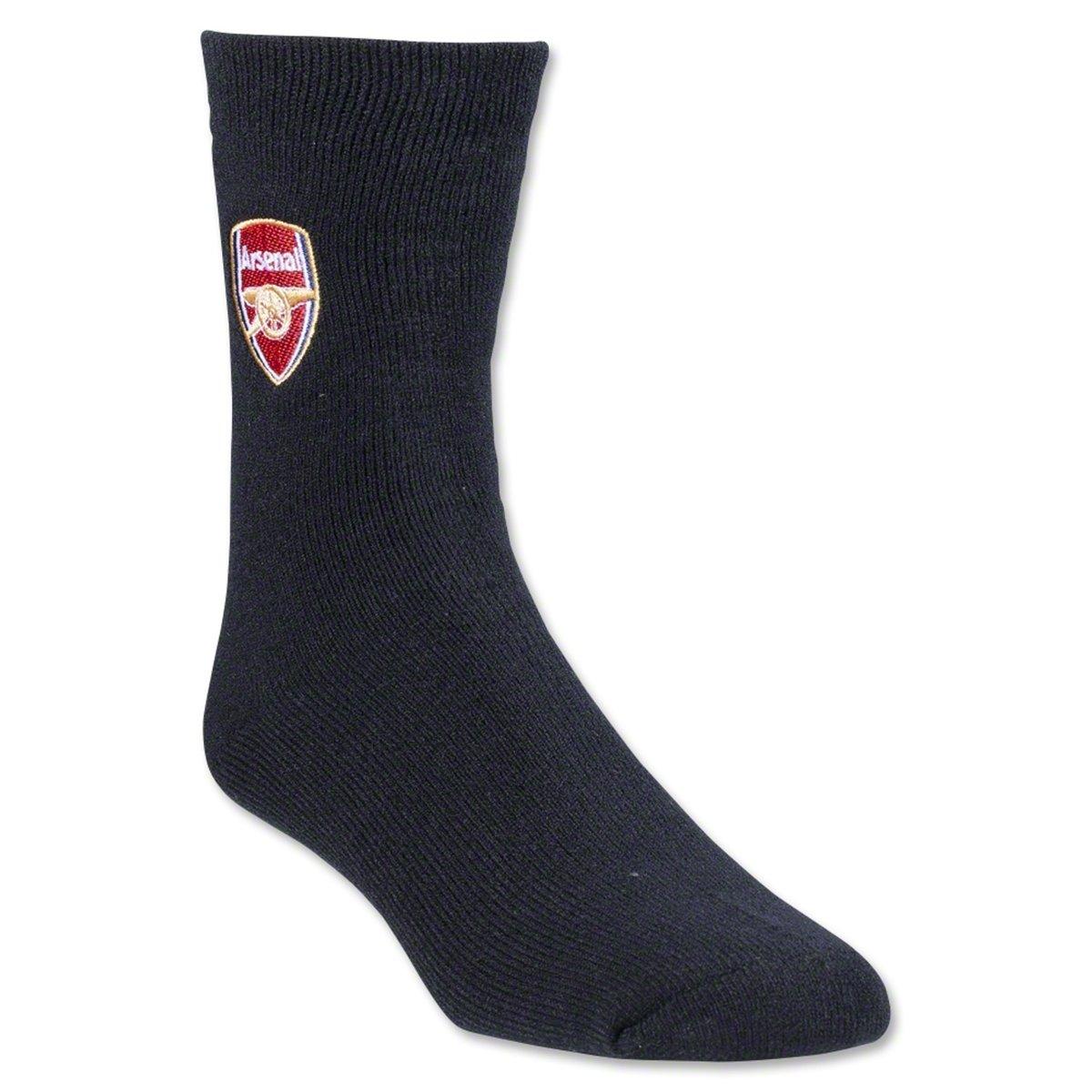 Arsenal FC - Calcetines térmicos oficiales Modelo Crest Fútbol (1 par) (40-45 EUR/Negro): Amazon.es: Ropa y accesorios