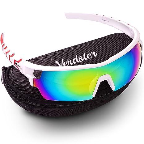 Gafas de sol Verdster Para Hombres y Mujeres– Aptos para Corriendo – Montura Envolvente Cómoda con Protección UV – Incluye un estuche duro, funda ...
