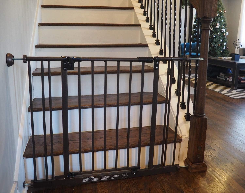 Paquete de 4, Bronce Baby Gate Guru Protector de Pared Almohadillas para Proteger sus Paredes de las Barreras de Seguridad para Beb/és y Mascotas Montadas a Presi/ón