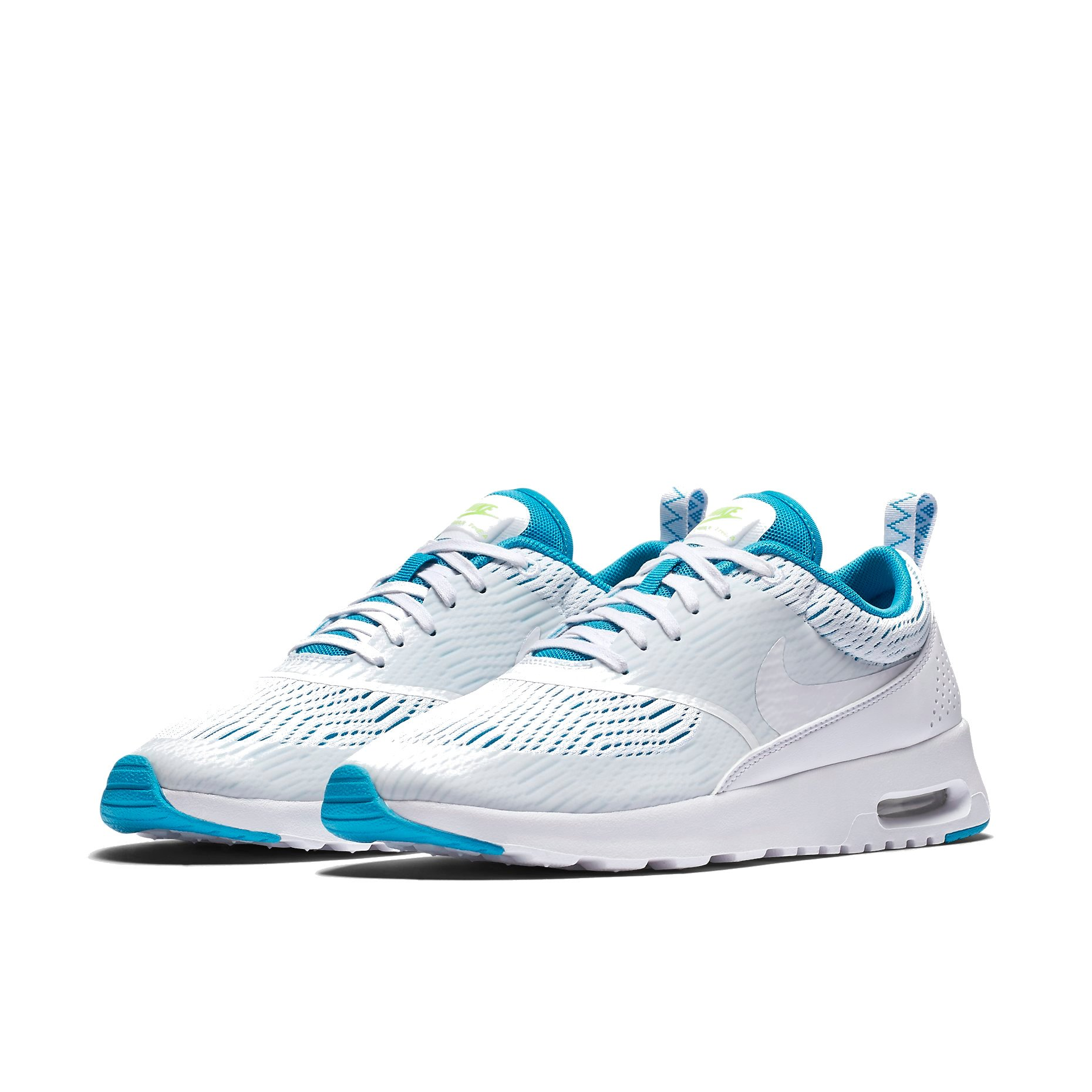 Nike Women's Air Max Thea EM White/White-Blue Lagoon-Ghost Green (12M US)