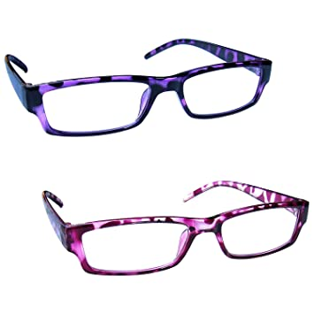 c3daf3e167a The Reading Glasses Company Purple   Pink Tortoiseshell Lightweight Readers  Value 2 Pack Mens Womens RR32-54 +3.00  Amazon.co.uk  Health   Personal Care