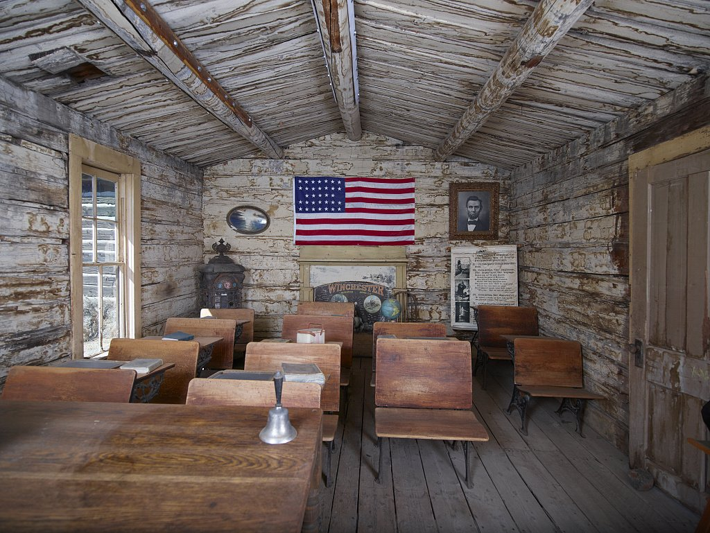 24 x 36 Giclee print of One-room schoolhouse display at the Old Trail Town living-history museum in Cody Wyoming r70 42259 by Highsmith, Carol M.,