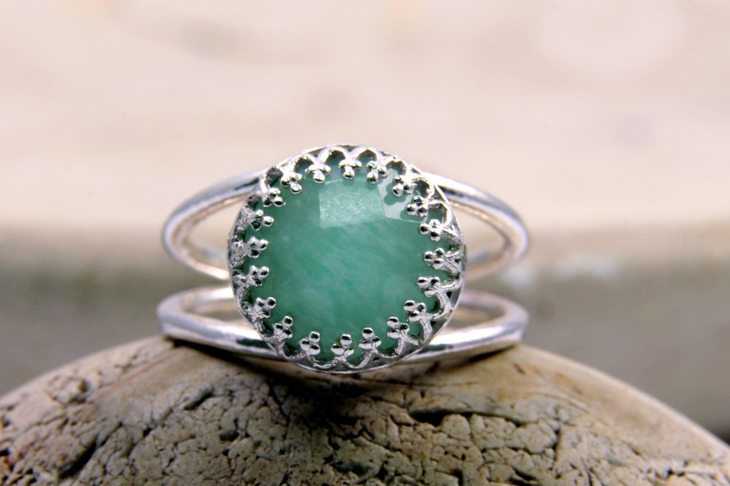 amazonite ring, silver ring, gemstone ring, sky blue ring, unique rings, delicate ring, mom gifts, bridesmaid rings