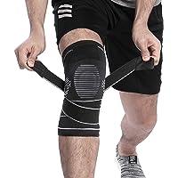 BERTER Knee Brace for Men Women - Compression Sleeve Non-Slip for Running, Hiking, Soccer, Basketball for Meniscus Tear Arthritis ACL Single Wrap