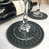 ENKORE Drink Coasters Set of 6 Pack In Holder, Gray