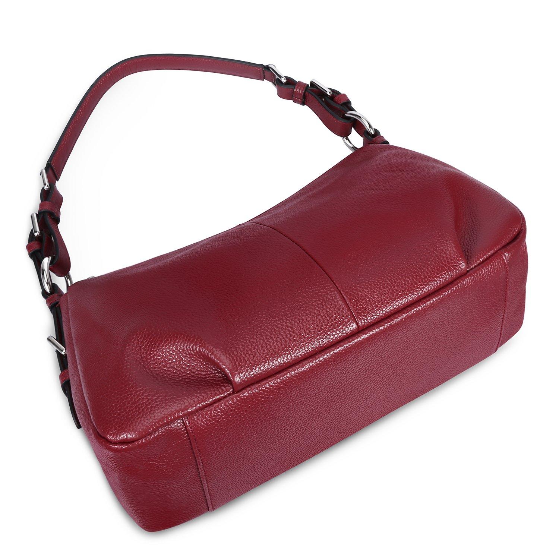 595b6fc466 S-ZONE Womens Hobo Genuine Leather Shoulder Bag Top-handle Handbag Ladies  Purses S-ZONE D10V015A