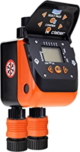 Claber 8420 Aquadue Duplo Evolution Dual Outlet Digital Water Timer