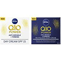 Nivea Q10 SPF 15 Anti-Wrinkle Face Day Cream Plus Face Night Cream, 50 ml