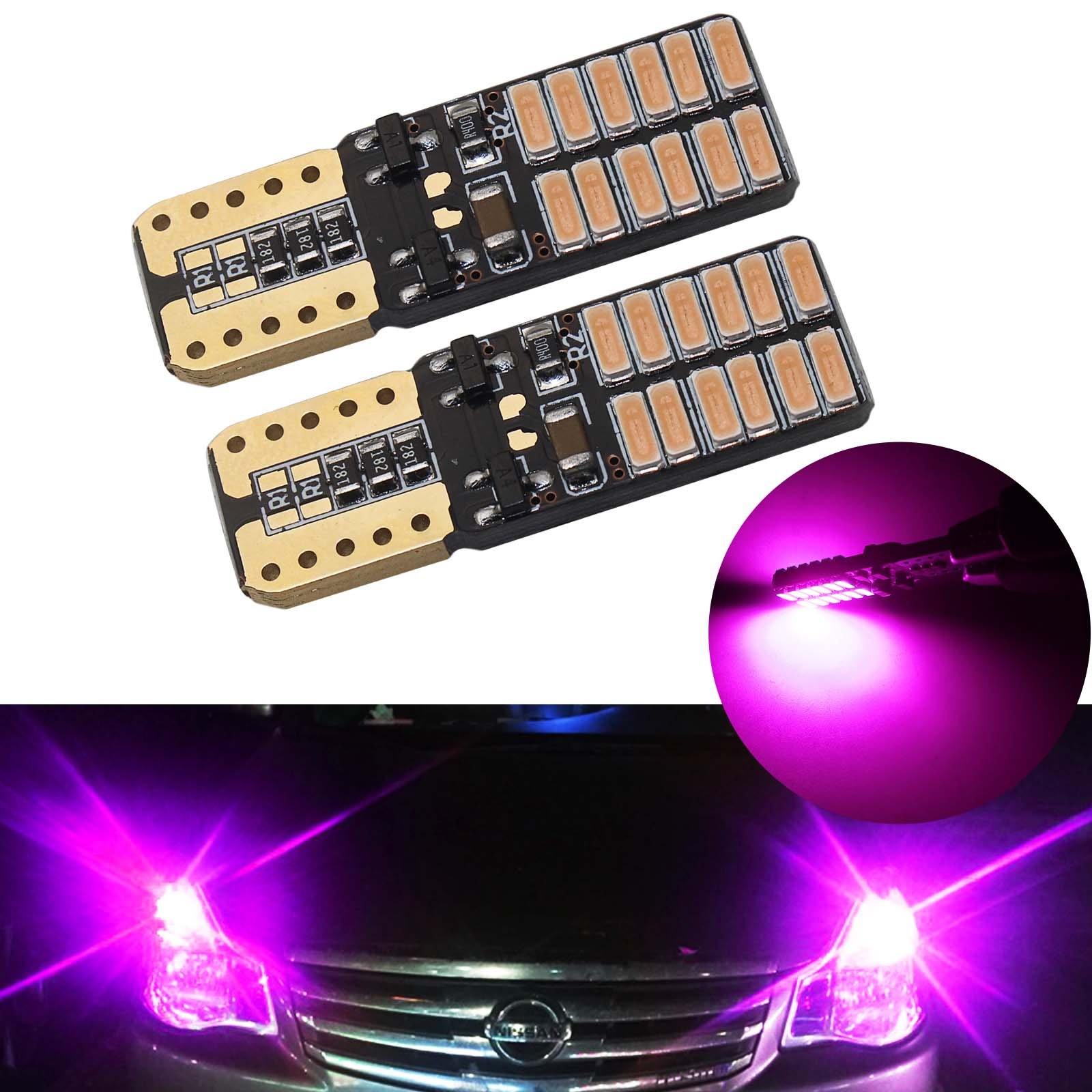 1.72 Pack of 2 41mm 42mm LED Dome Festoon Map light Fit for 578 569 211-2 212-2 Canbus Error Free 12V 24V with SAMSUNG-5630 Chipset LED Bulb Purple