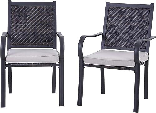 Sophia William Patio Dining Chairs Wicker