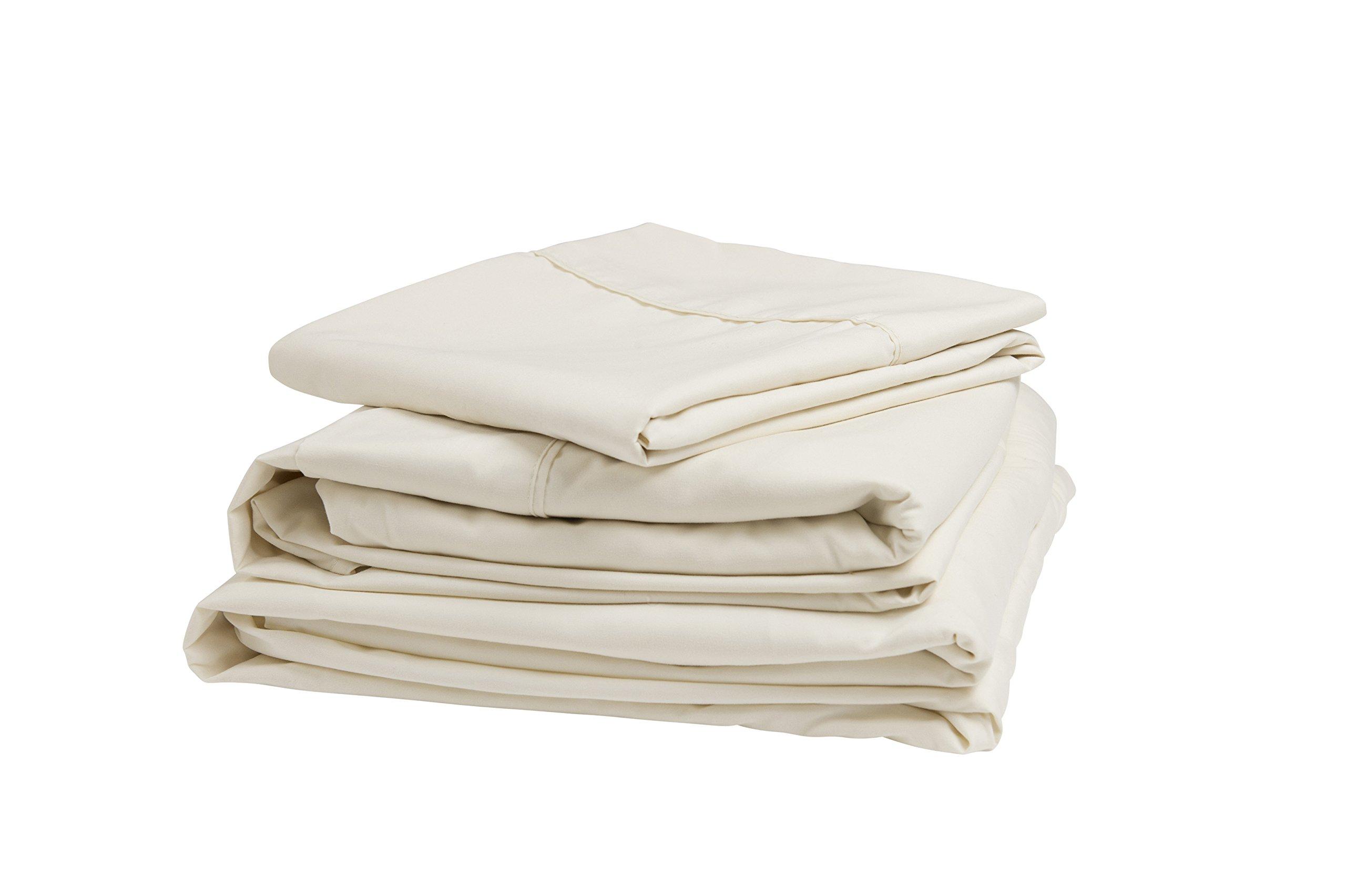 """Denver 343533 RV King Size Adjustable Sheet Set Ivory - Fits mattresses up to 6"""" deep Ultra-soft brushed microfiber Extra-long top sheet - sheet-sets, bedroom-sheets-comforters, bedroom - 71w7PBeGiXL -"""