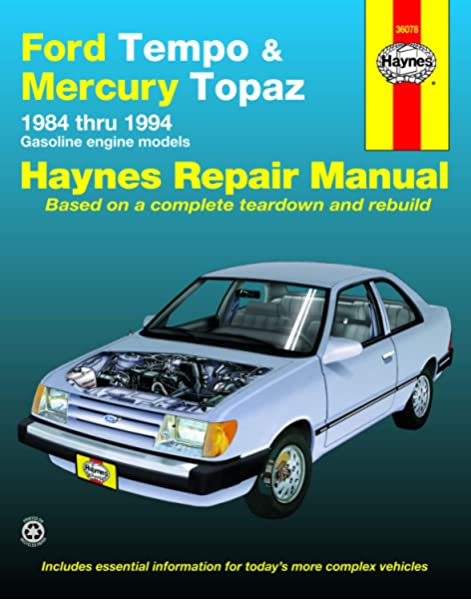 [XOTG_4463]  Ford Tempo & Mercury Topaz 2WD Gas Engine Models (84-94) Haynes Repair  Manual (Does not include information specific to diesel engines. Includes  ... exclusion noted) (Haynes Repair Manuals): Haynes: 0038345014185:  Amazon.com: Books | 94 Ford Tempo Wiring Diagram |  | Amazon.com
