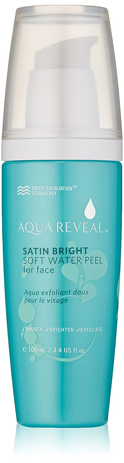 Aquareveal Satin Bright Soft Water Peel for Face , exfoliator for anti-aging, acne, dry, oily, sensitive skin, eczema , 95% organic/natural Korean peeling gel/gommage , large 100 ml/3.4 Fl Oz size