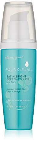 Aquareveal Satin Bright Soft Water Peel for Face exfoliator for anti-aging, acne, dry, oily, sensitive skin, eczema 95 organic natural Korean peeling gel gommage large 100 ml 3.4 fl oz size