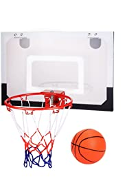 Kaluo Indoor Wall Mount Or Over The Door Mini Basketball Hoop Set System For