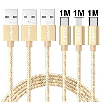 iVoler Cable USB Tipo C a USB A 3.0 [3 Pack: 1M+1M+1M] Cargador ...