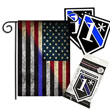 Amazoncom Red White Blue American Thin Blue Line Garden