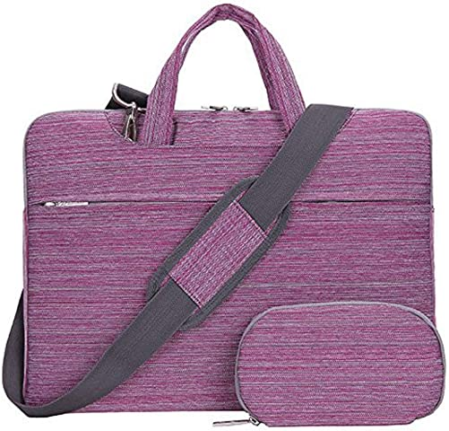 Laptop Case,SNOW WI 13.3 Laptop Shoulder Bag for MacBook,Acer,Asus Flax pink