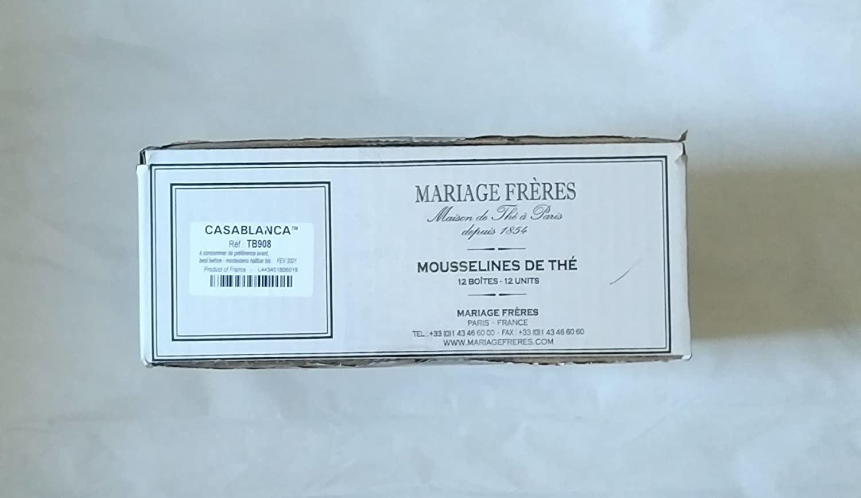 B07CNRHQ97 Mariage Freres - CHAMOMILLA Wild chamomile flowers - Organic garden artisan herbal tea (NEW!) (TB551) - 12 x 30 Muslin Tea Sachet / bags (full card box) 71w7S2B1T7jL._SL1500_