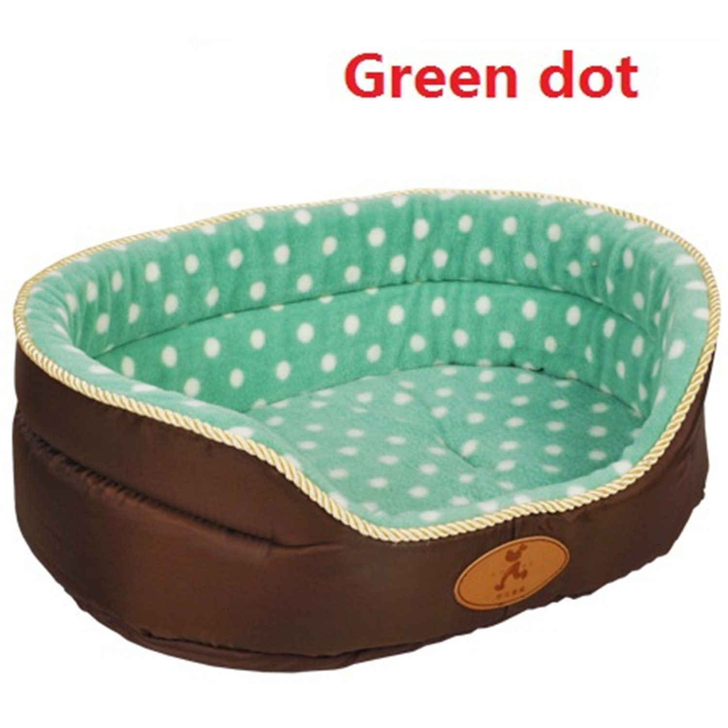 Green dot L green dot L Feroni Double Sided Available All Seasons Big Size Extra Large Dog Bed House Sofa Kennel Soft Fleece Pet Dog Cat Warm Bed s-XL Green dot L